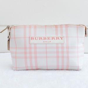 Burberry Golf Pink & White Nova Check Cosmetic Bag